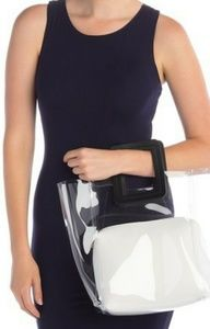 BNWOT Urban Expressions Clear Square Handle Tote